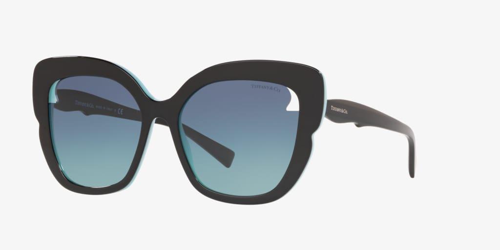 Tiffany TF4161 56 Black on Tiffany Blue Sunglasses