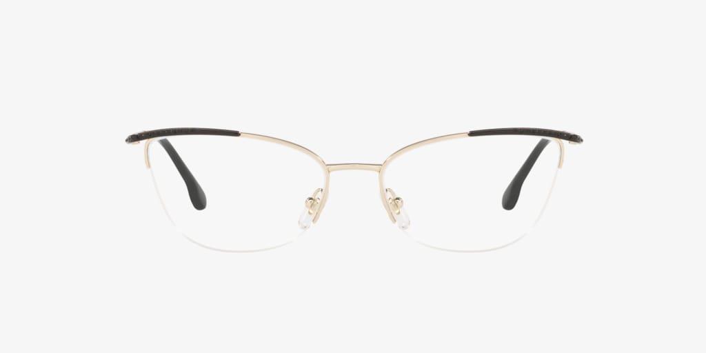 Versace VE1261B Black/Pale Gold Eyeglasses