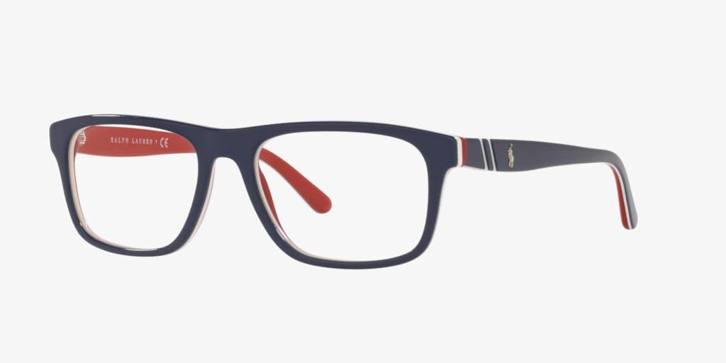 Polo Ralph Lauren PH2211 Shiny Navy Blue/White/Red Eyeglasses