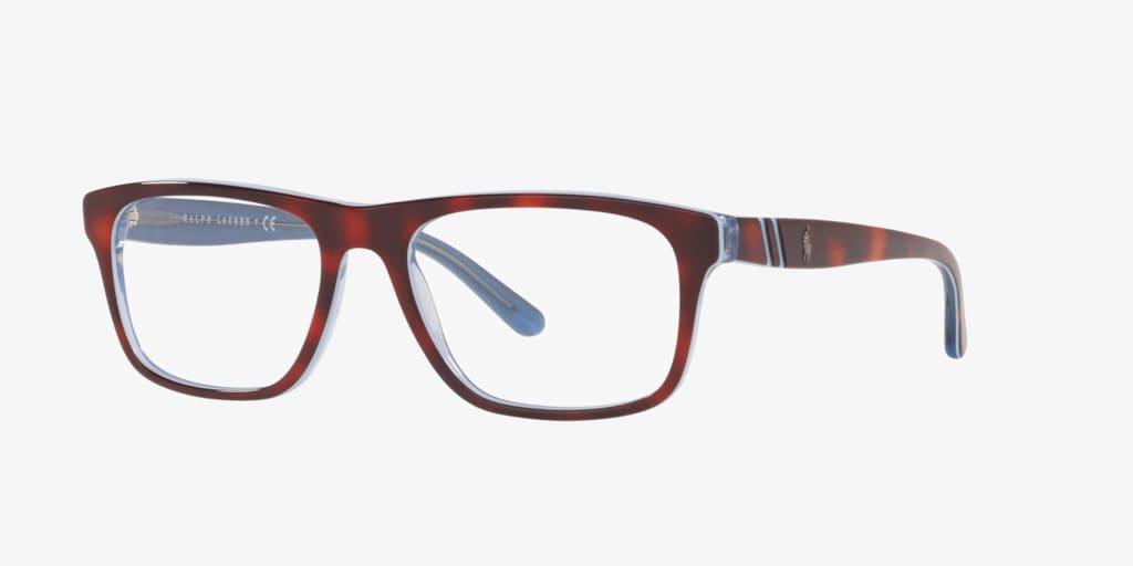 Polo Ralph Lauren PH2211 Havana/Azure/Transparent Azure Eyeglasses