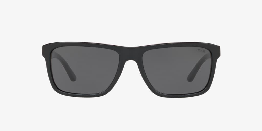 Polo Ralph Lauren PH4153 58 Shiny Black/Red/Black Sunglasses