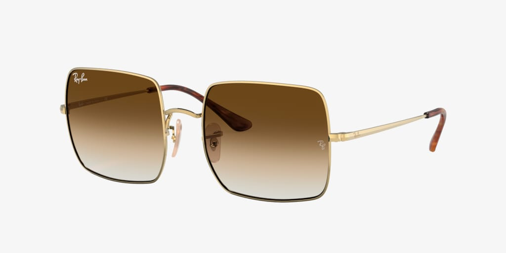 Ray-Ban RB1971 54 SQUARE Gold Sunglasses