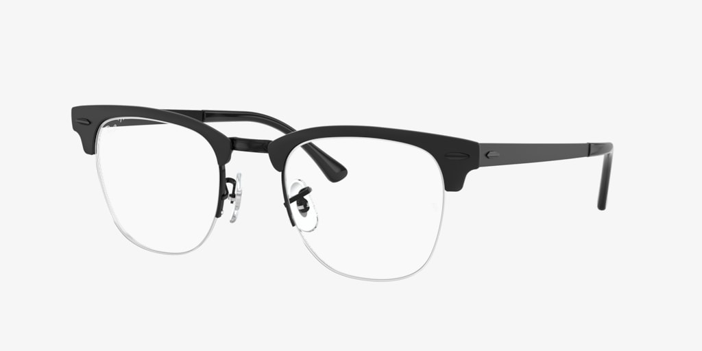 Ray-Ban RX3716VM CLUBMASTER METAL Matte Black On Black Eyeglasses