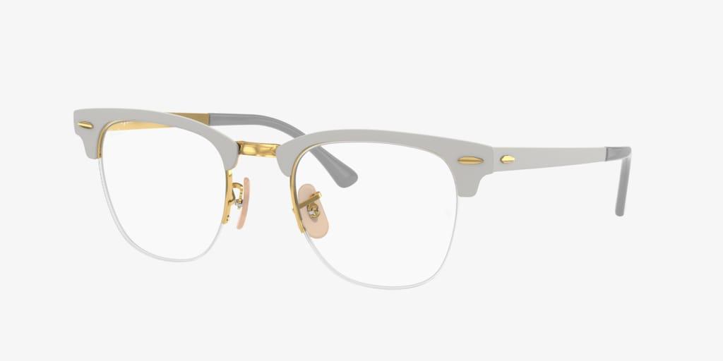 Ray-Ban RX3716VM CLUBMASTER METAL Matte Grey On Gold Eyeglasses