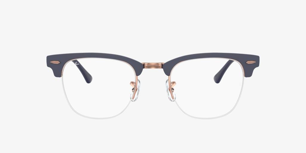 Ray-Ban RX3716VM CLUBMASTER METAL Matte Dark Blue On Copper Eyeglasses