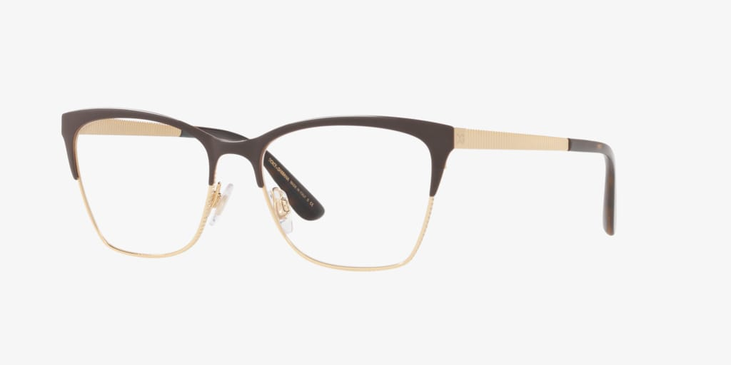 Dolce&Gabbana DG1310 Matte Brown/Gold Eyeglasses