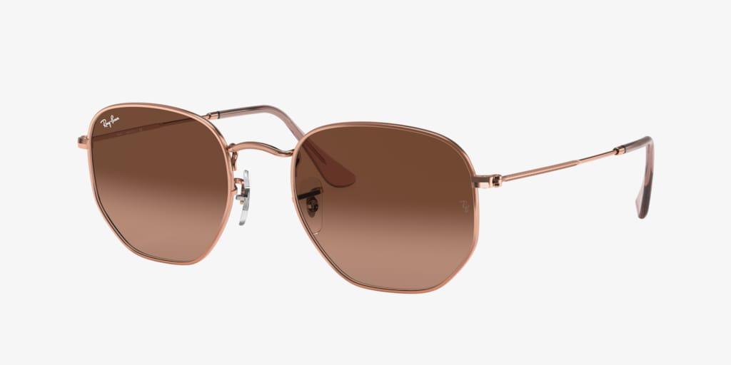 Ray-Ban RB3548N 51 HEXAGONAL Copper Sunglasses