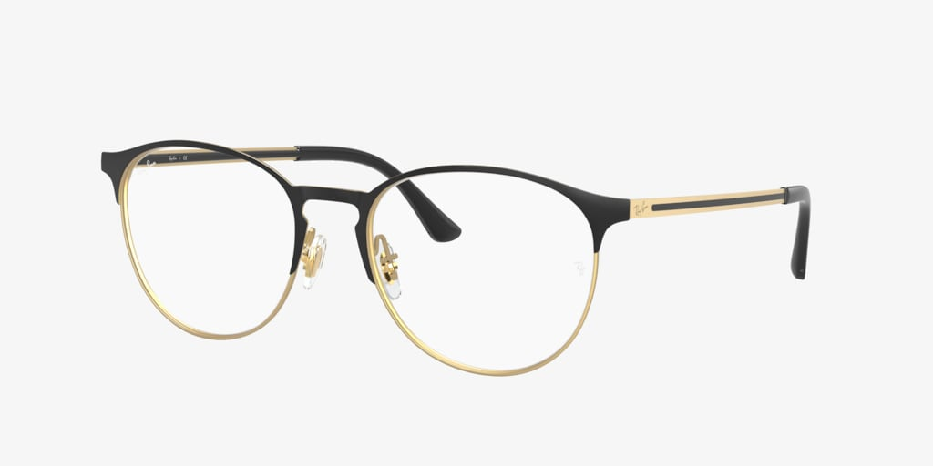 Ray-Ban RX6375 Matte Black On Rubber Gold Eyeglasses