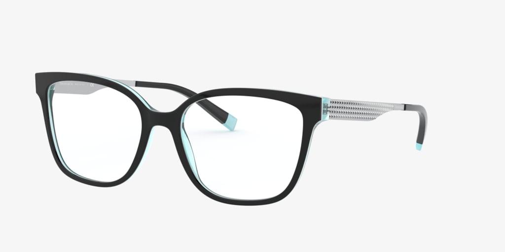 Tiffany TF2189 Black On Crystal Tiffany Blue Eyeglasses