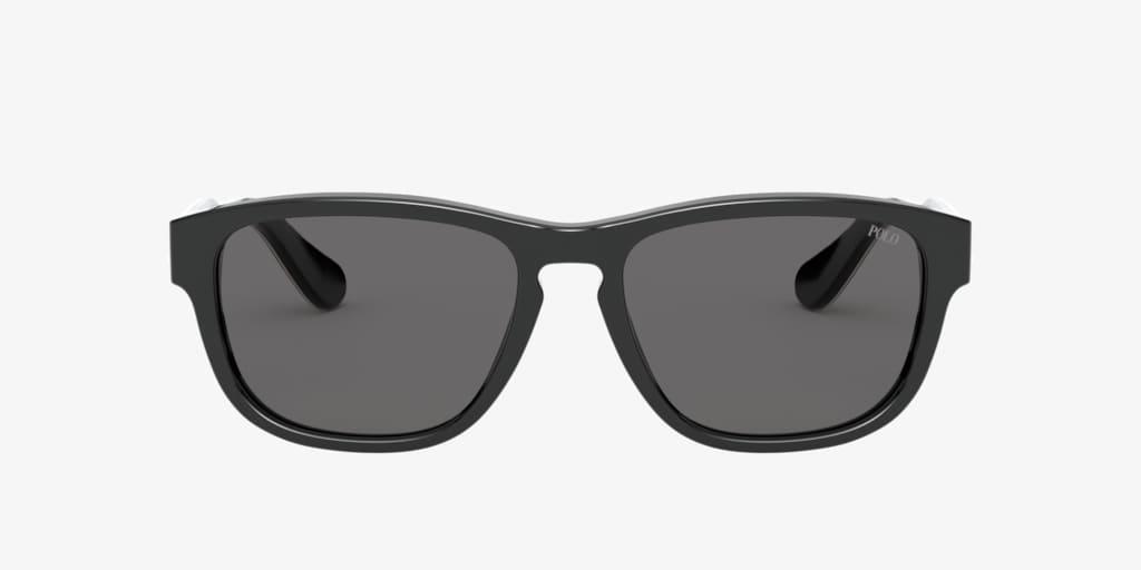 Polo Ralph Lauren PH4158 55 Shiny Black Sunglasses