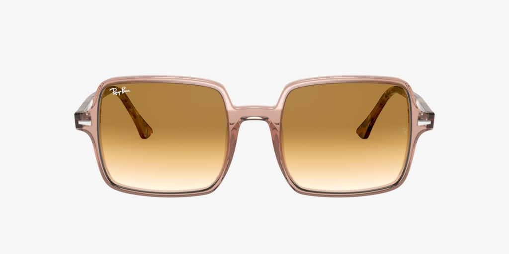 Ray-Ban RB1973 53 SQUARE II Transparent Light Brown Sunglasses