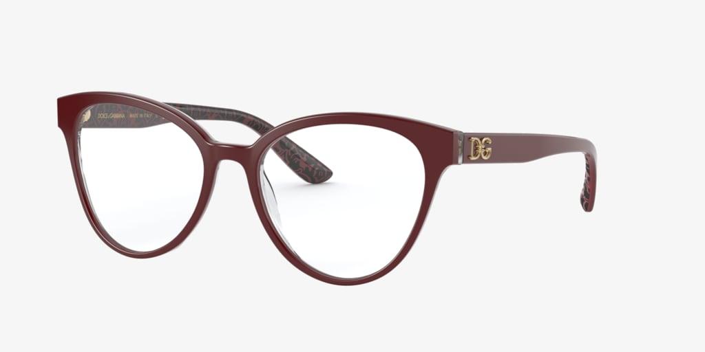 Dolce & Gabbana DG3320 Bordeaux On Damasco Eyeglasses