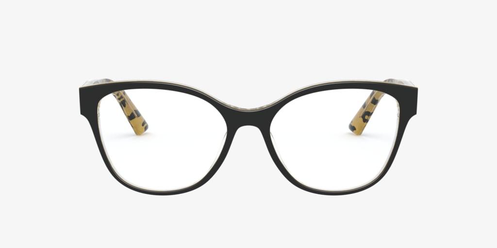 Dolce&Gabbana DG3322 Black On Leopard Eyeglasses
