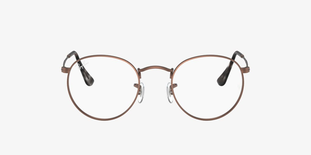 Ray-Ban RX3447V ROUND METAL Brown/Tan Eyeglasses