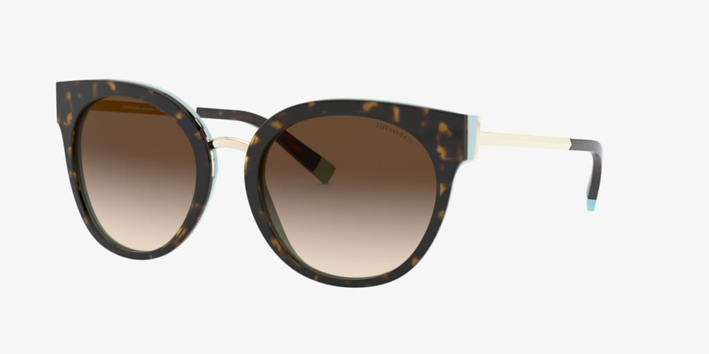 Tiffany TF4168 54 Havana on Tiffany Blue Sunglasses