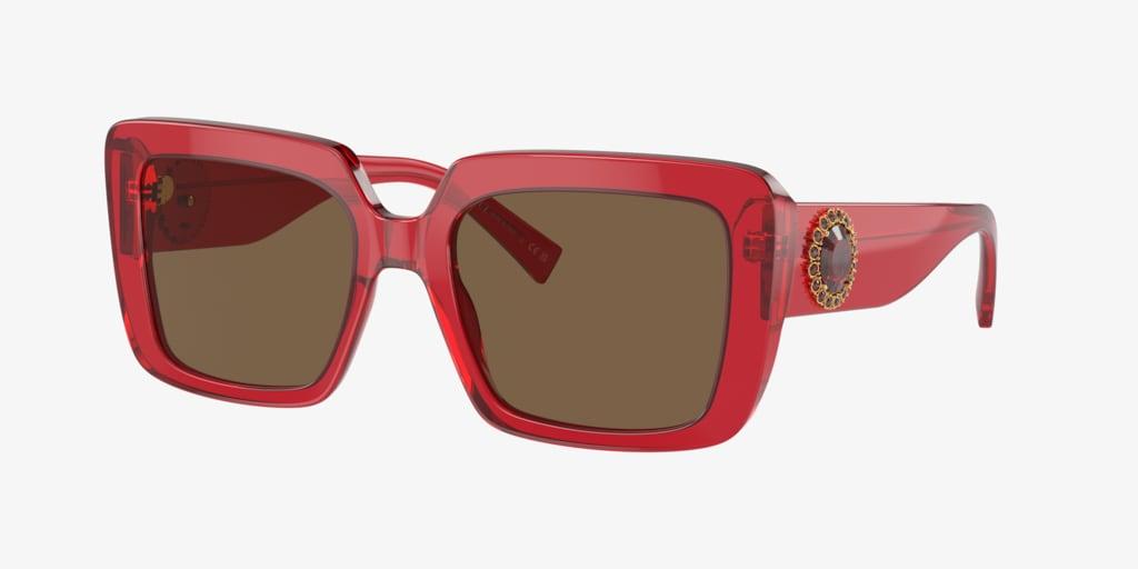 Versace VE4384B 54 Transparent Red Sunglasses