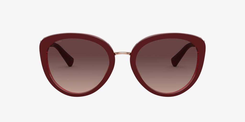 Bulgari BV8226B 54 Bordeaux On Transparent Red Sunglasses