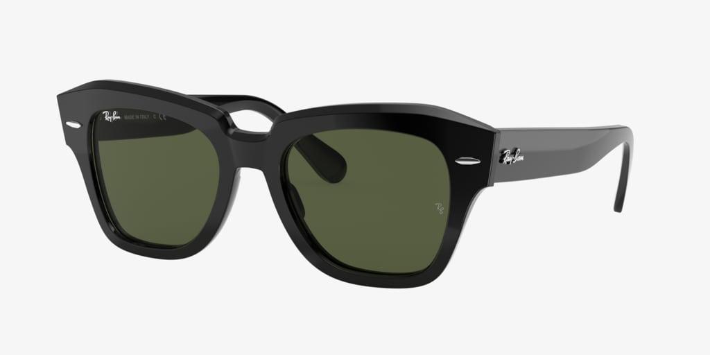 Ray-Ban RB2186 49 STATE STREET Black Sunglasses