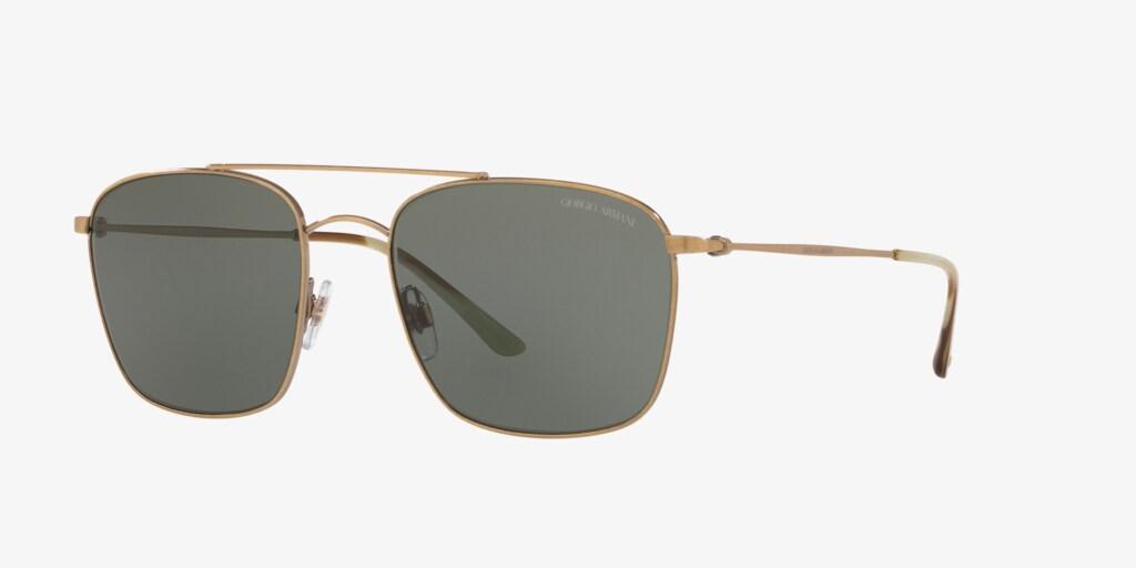Giorgio Armani AR6080 55 Brushed Gold Sunglasses