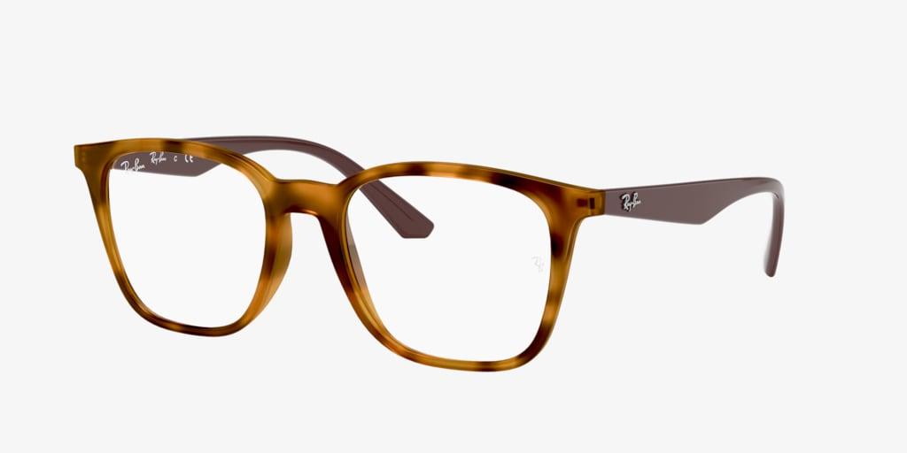 Ray-Ban RX7177 Yellow Havana Eyeglasses