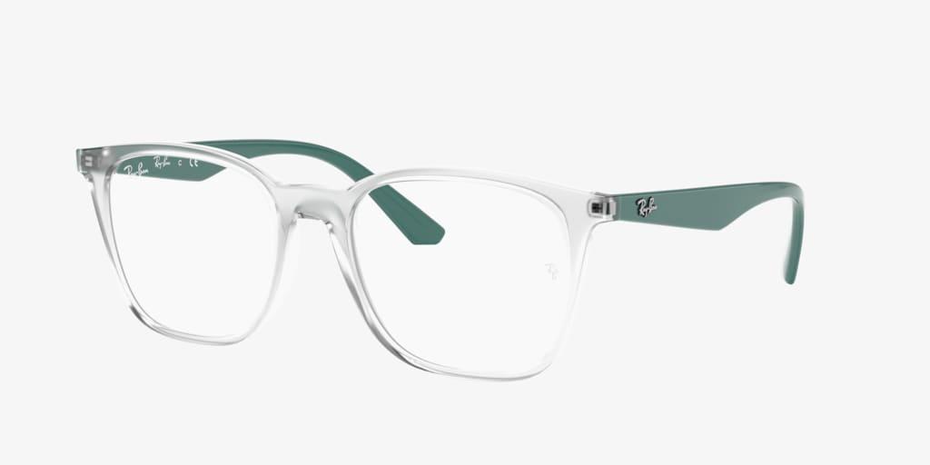 Ray-Ban RX7177 Transparent On Green Eyeglasses
