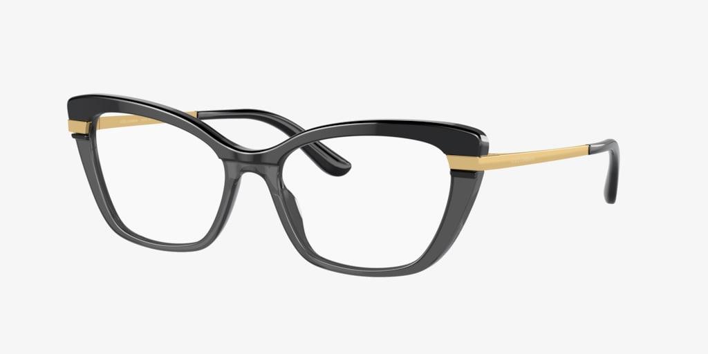 Dolce&Gabbana DG3325 Black On Transparent Black Eyeglasses