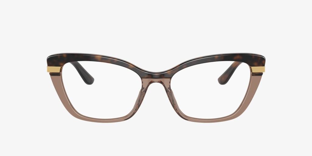 Dolce&Gabbana DG3325 Havana On Transparent Brown Eyeglasses