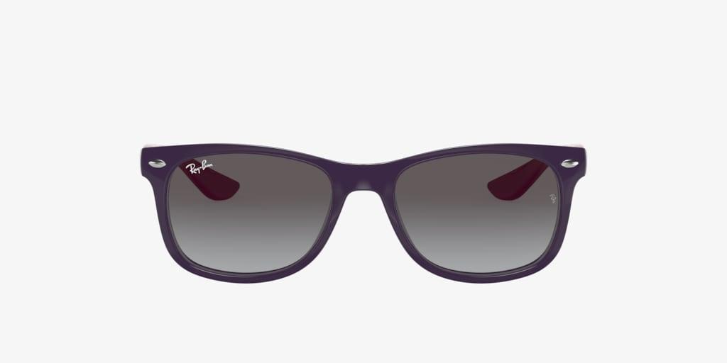 Ray-Ban Jr RJ9052S 47 JUNIOR NEW WAYFARER Dark Violet On Pink Sunglasses