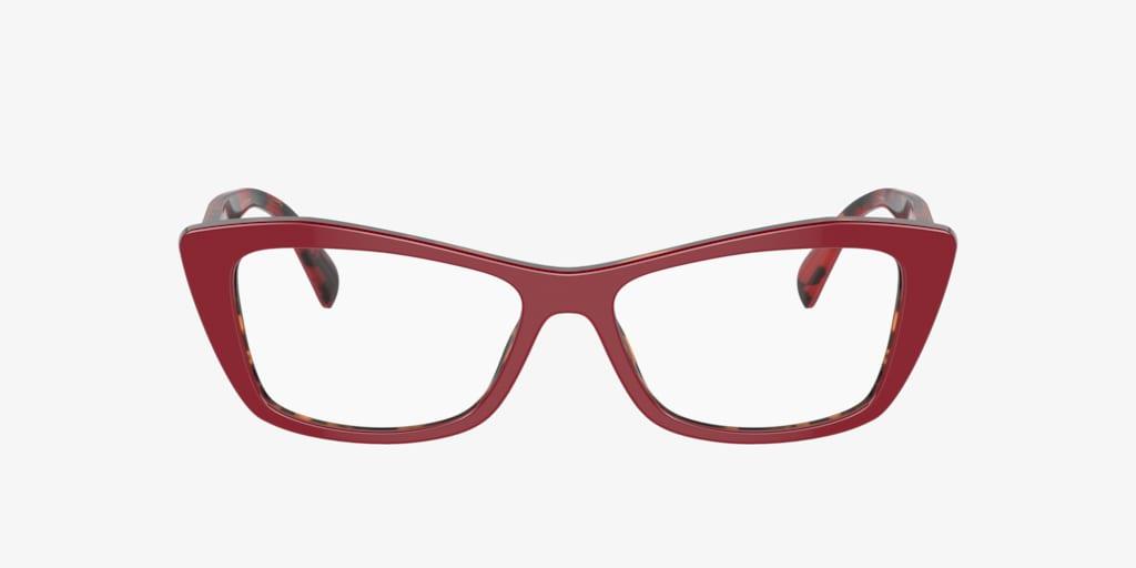 Prada PR 15XV Red On Havana Eyeglasses