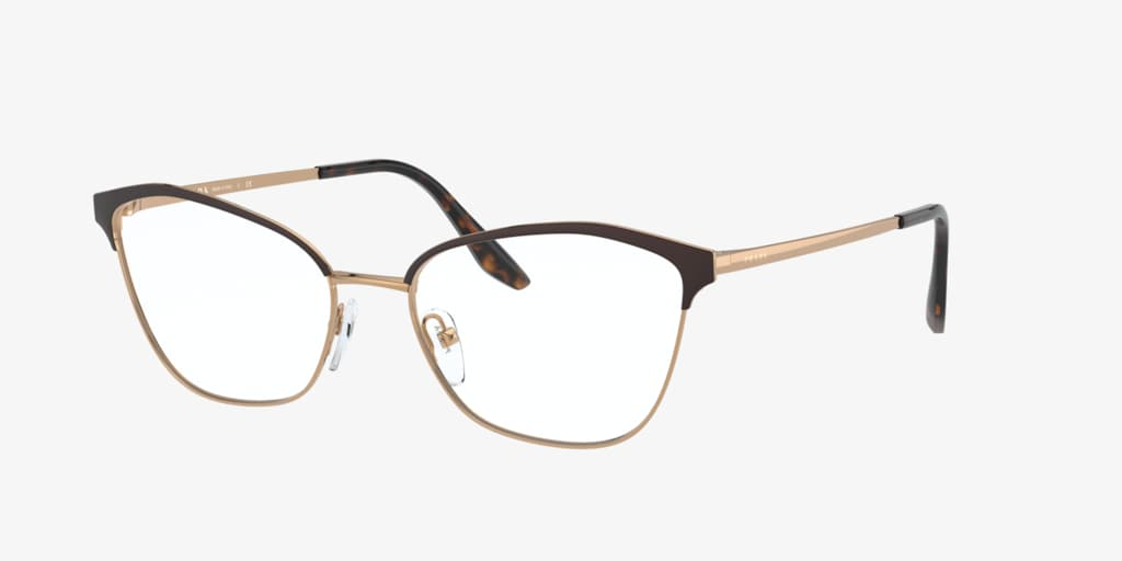 Prada PR 62XV Bordeaux On Gold Eyeglasses