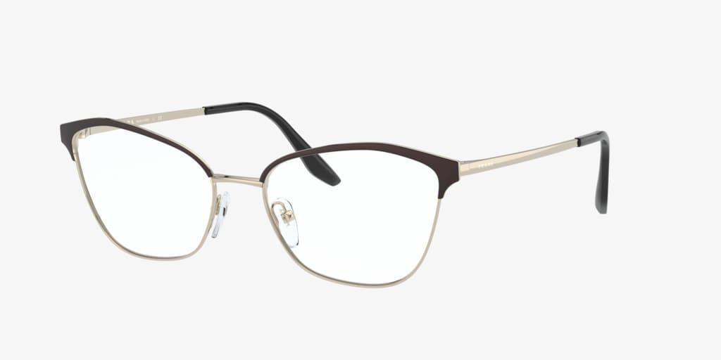 Prada PR 62XV Black/Light Gold Eyeglasses