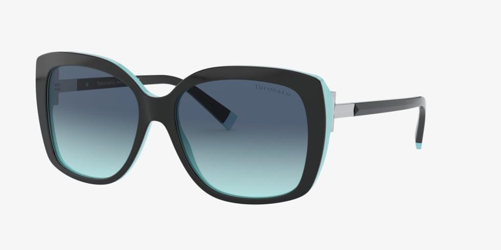 Tiffany TF4171 57 Black On Tiffany Blue Sunglasses