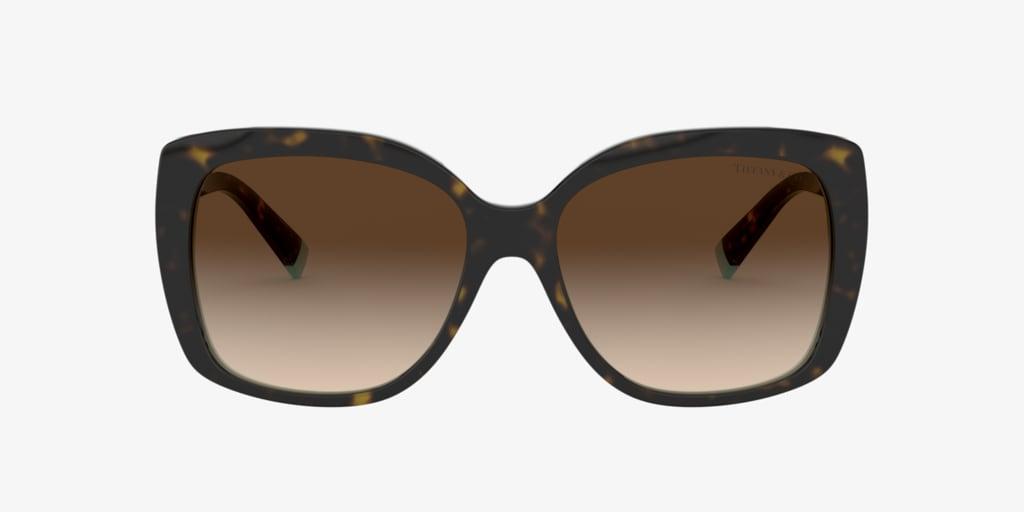Tiffany TF4171 57 Havana On Tiffany Blue Sunglasses