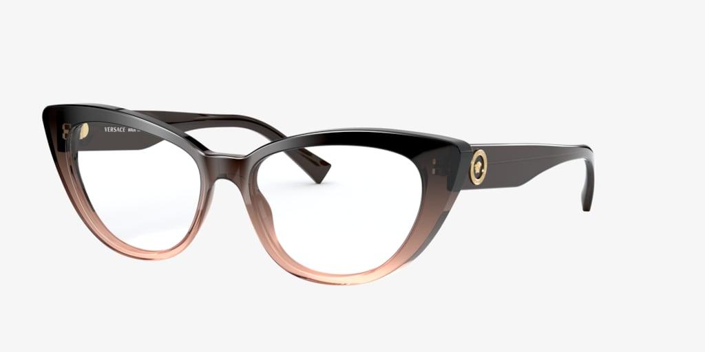 Versace VE3286 Transparent Brown Gradient Eyeglasses