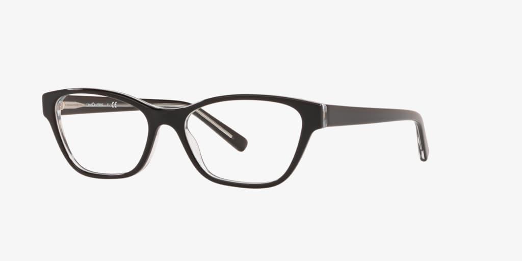 Lenscrafters EC2001 Black on Trasparent Eyeglasses