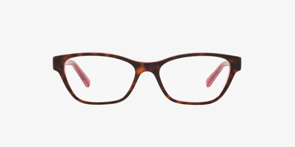 Lenscrafters EC2001 Havana On Pink Trasparent Eyeglasses