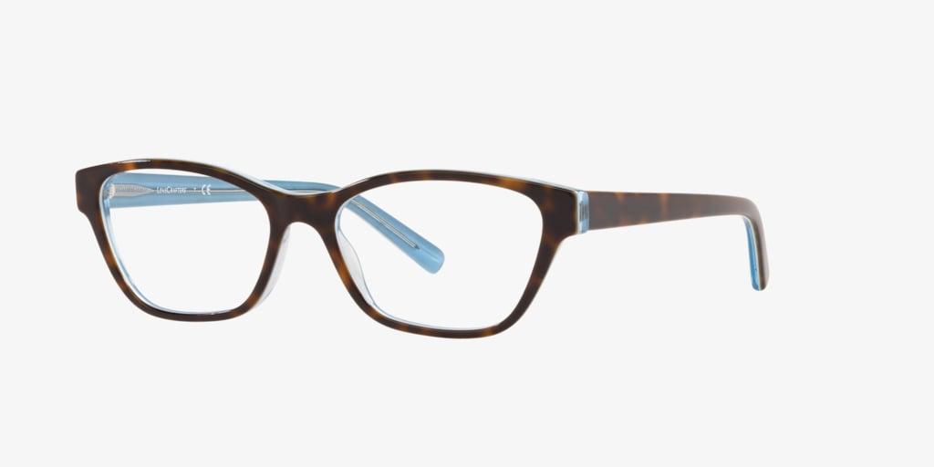 Lenscrafters EC2001 Havana On Azure Trasparent Eyeglasses