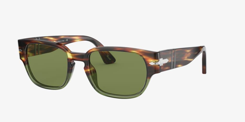 Persol PO3245S Brown Tortoise/Opal Green Sunglasses