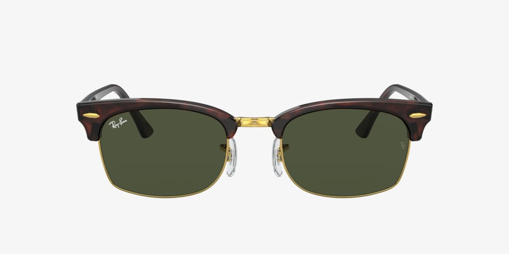 Ray-Ban CLUBMASTER SQUARE Tortoise on Gold Sunglasses