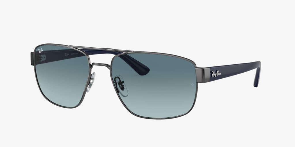 Ray-Ban RB3663 60 Gunmetal Sunglasses