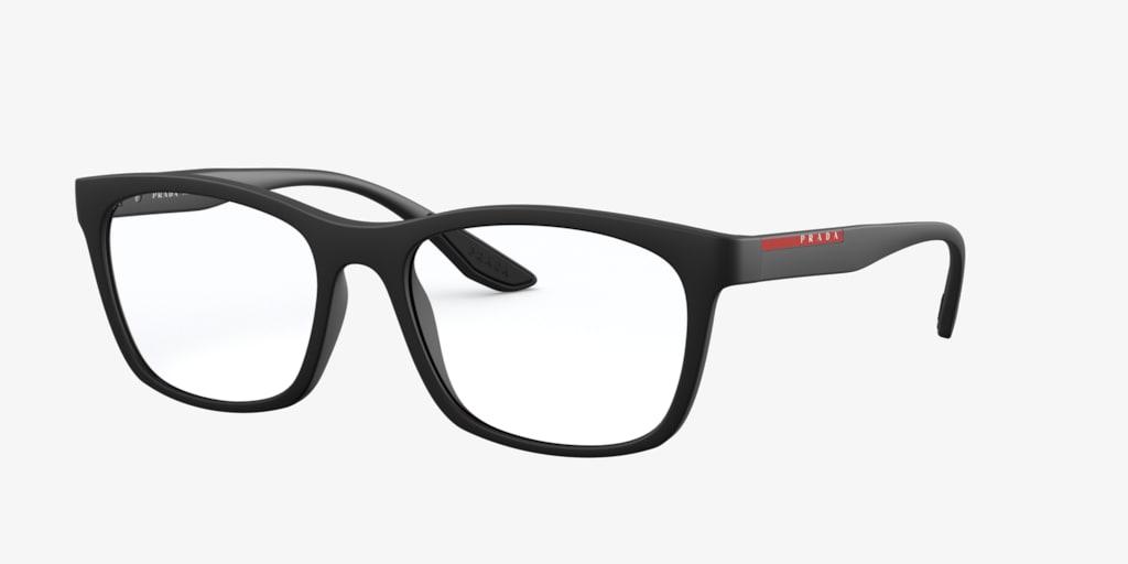 Prada Linea Rossa PS 02NV Black Rubber Eyeglasses