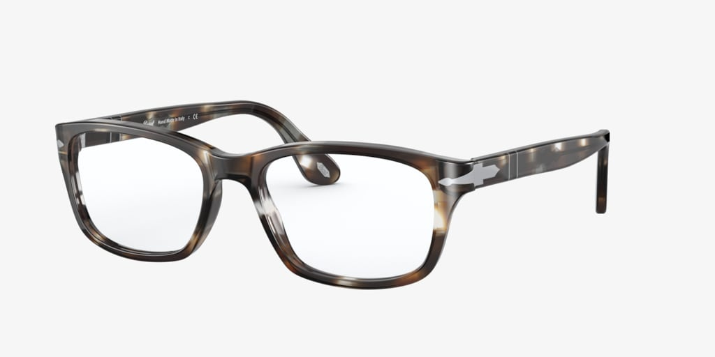 Persol PO3012V Striped Brown & Smoke Eyeglasses