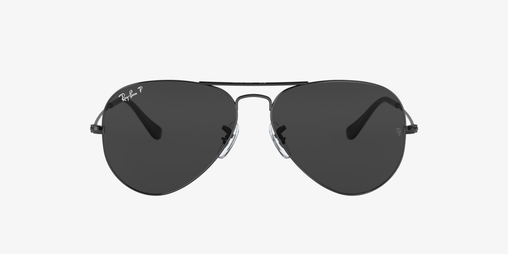 Ray-Ban RB3025 58 ORIGINAL AVIATOR Black Sunglasses