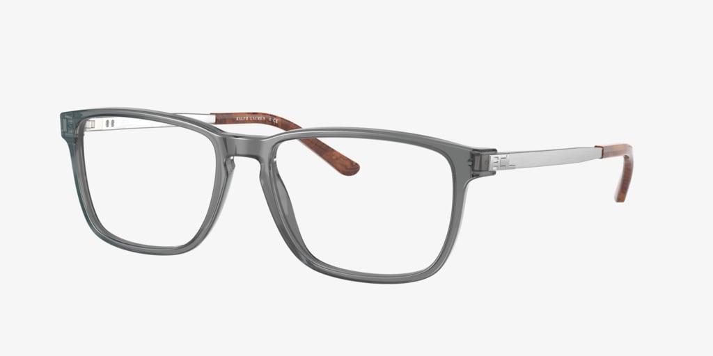 Ralph Lauren RL6208 Shiny Transparent Grey Eyeglasses