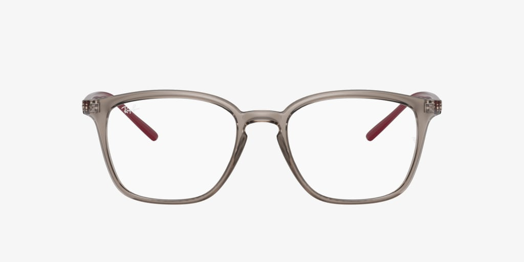 Ray-Ban RX7185 Transparent Grey Eyeglasses