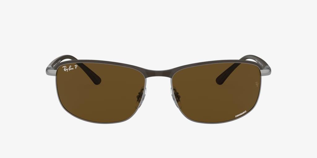 Ray-Ban RB3671CH 60 Brown On Gunmetal Sunglasses