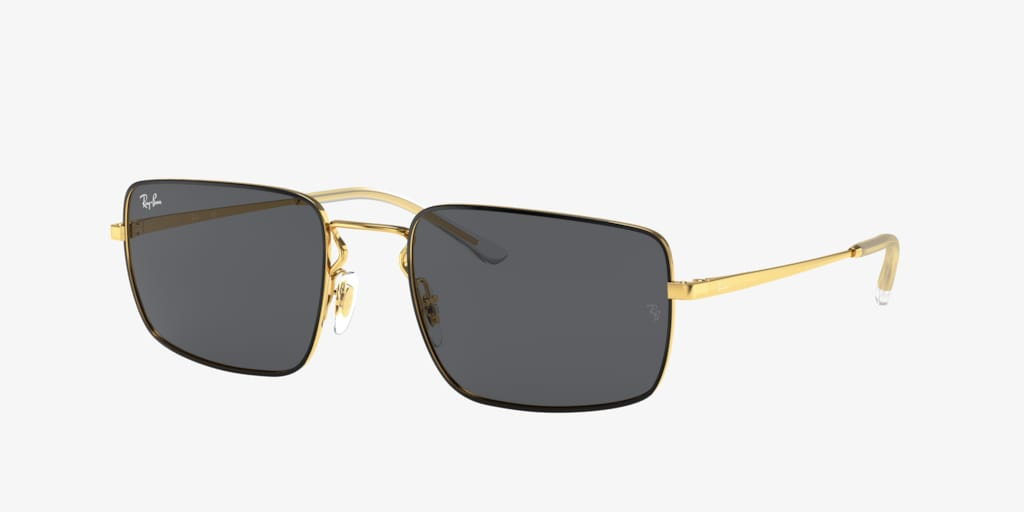 Ray-Ban RB3669 Black on Gold Sunglasses