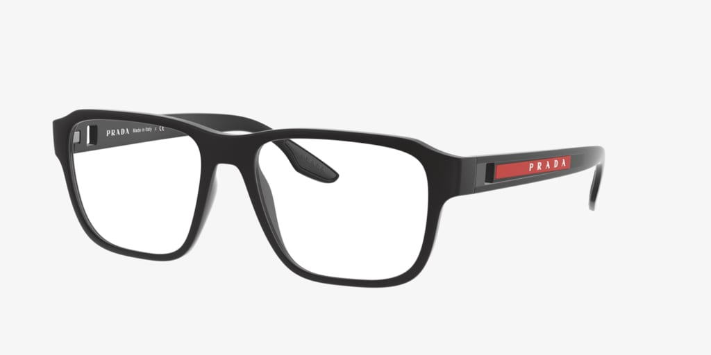 Prada Linea Rossa PS 04NV Black Rubber Eyeglasses