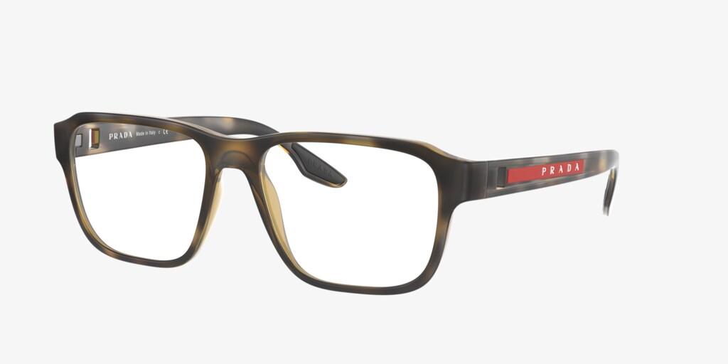 Prada Linea Rossa PS 04NV Brown Rubber Eyeglasses