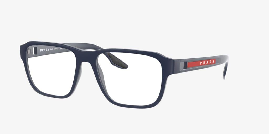 Prada Linea Rossa PS 04NV Blue Rubber Eyeglasses